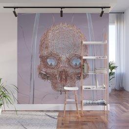 golden skull Wall Mural