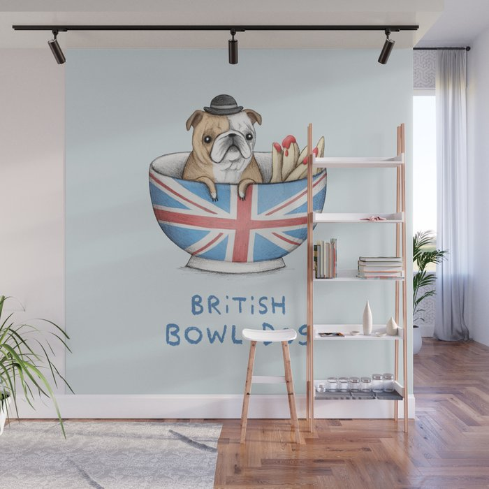 British Bowl Dog Wall Mural