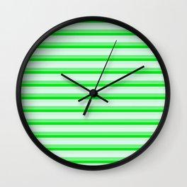 Green stripes. Wall Clock
