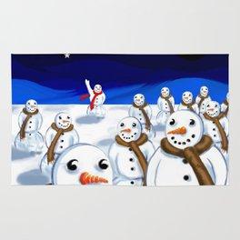 Snowmen Gathering Rug