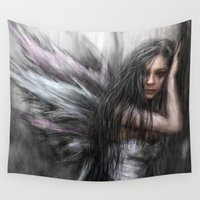 fairy Wall Tapestries featuring Fairy by Justin Gedak