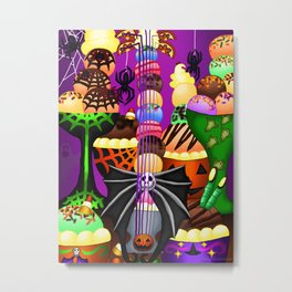 Fusion Keyblade Guitar #199 - Pumpkinhead & Sweetstack Metal Print