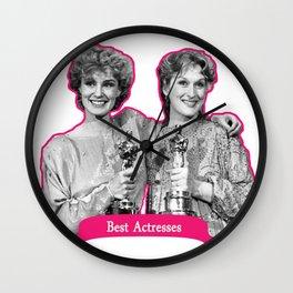 Jessica Lange and Meryl Streep Wall Clock