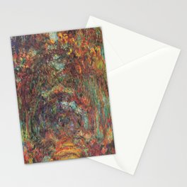Claude Monet's The Rose Walk, Giverny Stationery Cards