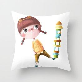 N de Tina Throw Pillow