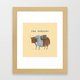 Yak Kerouac Framed Art Print