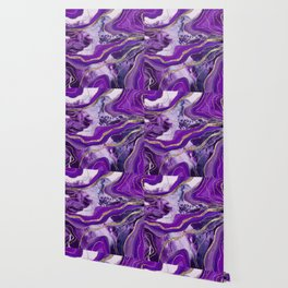 Liquid Marble Agate Glitter Glam #4 (Faux Glitter) #decor #art #society6 Wallpaper