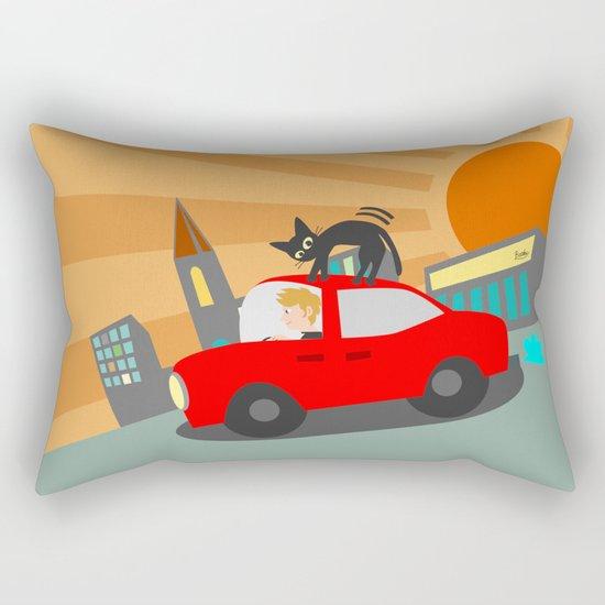 Riding Rectangular Pillow