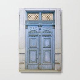 Door Series - Blue Door II Metal Print