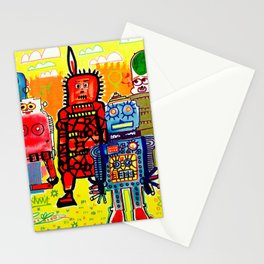 Save The Robots Stationery Cards
