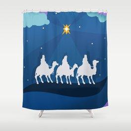 Three Wise Men - Holy Night Star Shower Curtain