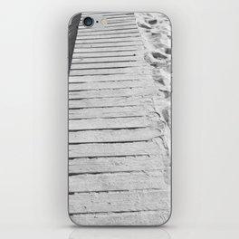 board walk b&w iPhone Skin
