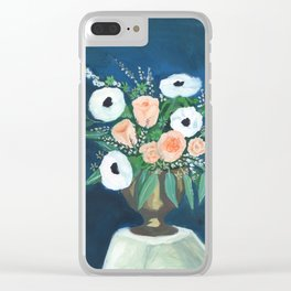 blush and white bouquet Clear iPhone Case