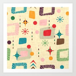Atomic pattern Art Print