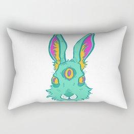 Three-eyed Hare Rectangular Pillow