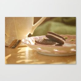tea + cookies Canvas Print