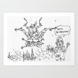 Teenage Mutant Dinosaur Robots by Max (from Farts 'N' Crafts #6) Art Print