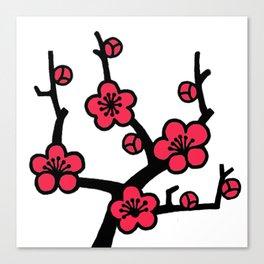 Japanese Plum Tree Canvas Print
