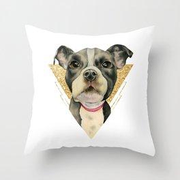 Puppy Eyes 3 Throw Pillow