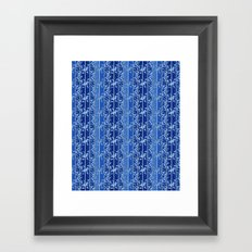 Abstract striped blue pattern. Framed Art Print