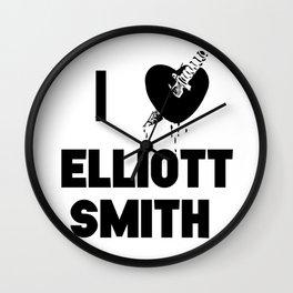 I Heart Elliott Smith Wall Clock