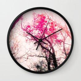 Tree Abstract Wall Clock