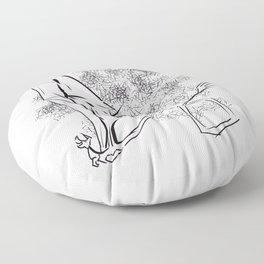 The Happy Dragon Floor Pillow