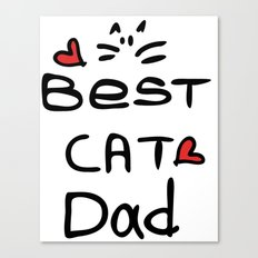 Best cat dad Canvas Print