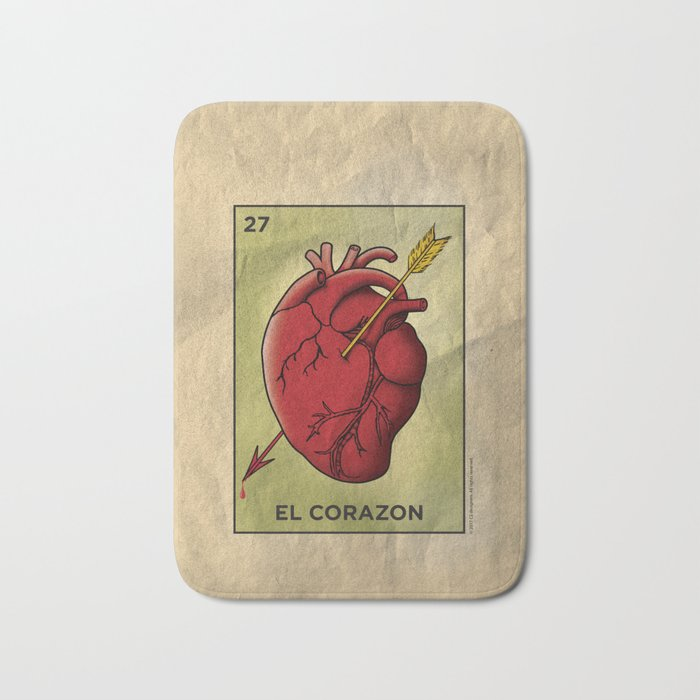 El Corazon Bath Mat