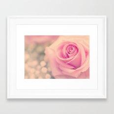 Vintage roses flowers floral - Pink rose flower bunch #Society6 Framed Art Print