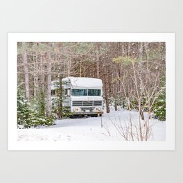 Winter Camping 2 Art Print