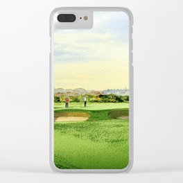 Carnoustie Golf Course Scotland 13th Green Clear iPhone Case