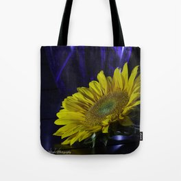 Sunflower and blue Tote Bag