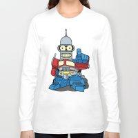 bender Long Sleeve T-shirts featuring Optimus Bender by darko888