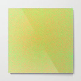 Lime Green Orange Elephant Skin Metal Print