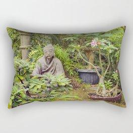 Japanese style Decoration at Guayaquil Botanical Garden Rectangular Pillow