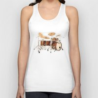drums Tank Tops featuring Hendrix  Drums by good music