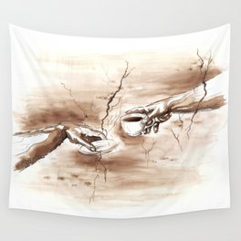 The Creation of Coffee Wall Tapestry