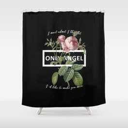 Harry Styles Only Angel graphic artwork Shower Curtain