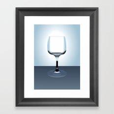 Glass Illustration Framed Art Print