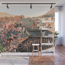 Seoul Rooftops - Bukchon Hanok Village, Korea Wall Mural