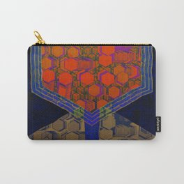Bees Tree in the Smart City / Organic Hexagon Carry-All Pouch