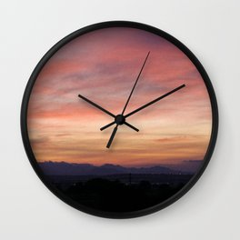 Landscape of my town in the middle of Mexico. Wall Clock