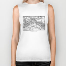 Vintage Map of Westminster (1593) Biker Tank