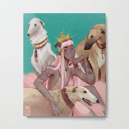 Greyhounds Metal Print
