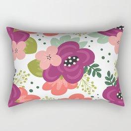 Blooming Florals Rectangular Pillow