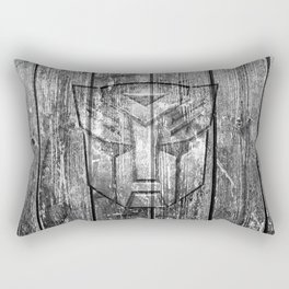 Autobot Monochrome Wood Texture Rectangular Pillow