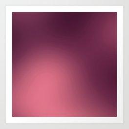Modern abstract trendy burgundy pink gradient Art Print