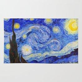 "Vincent Van Gogh "" Starry Night "" Rug"