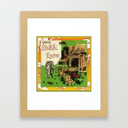 Tiki Art Exotic Waikiki Room Framed Art Print